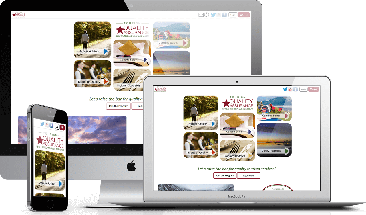 Every web solution created by AOR Web is fully responsive and looks great on a variety of platforms